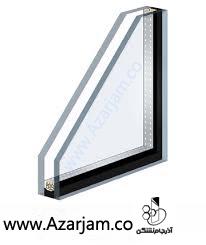 سطح مقطع شیشه دوجداره