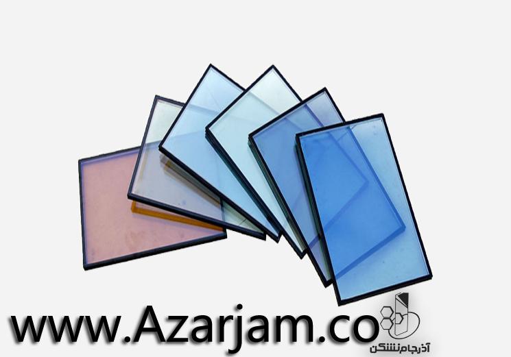 انواع شیشه های دوجداره رنگی آذرجام